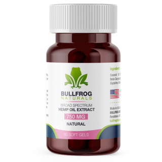 Bullfrog THC Free Soft Gel Capsules are a pure potent formulation designed to enhance your overall well-being. With hemp-derived cannabinoid extracts encapsulated and formulated for Maximum Bioavailability. Made using ORGANICALLY USA Grown Hemp