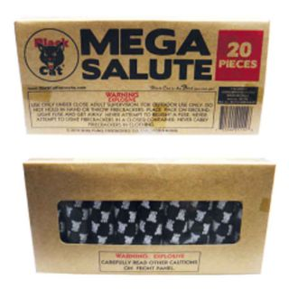 Firecrackers Fireworks for Sale by BLACK CAT BC114 Mega Salute 20pk