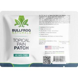 CBD Pain Patch by Bullfrog Naturals