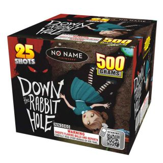 Down The Rabbit Hole 500 Gram 25 Shot Multi Shot Aerial Firework by No Name Fireworks