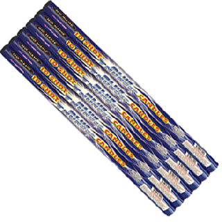 10 Ball Blue Thunder Roman Candle By No Name Fireworks