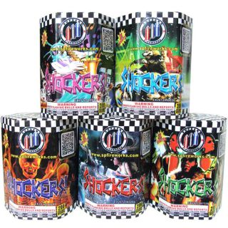 200 Gram Cakes Fireworks by SUPREME SP2200A Shockers - 5 Assorted